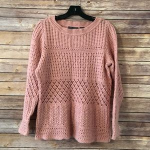 Gorgeous pink Liz Claiborne knit sweater size L